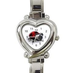 Lady Bird Heart Italian Charm Watch
