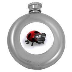 Lady Bird Hip Flask (round)