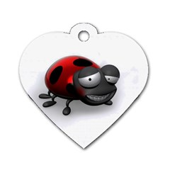Lady Bird Dog Tag Heart (Two Sided)
