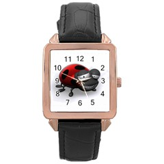 Lady Bird Rose Gold Leather Watch