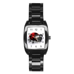 Lady Bird Men s Stainless Steel Barrel Analog Watch