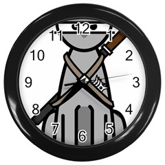 Ninja Cat Wall Clock (black)