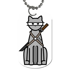 Ninja Cat Dog Tag (One Sided)