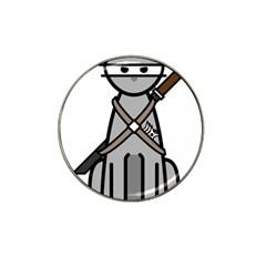 Ninja Cat Golf Ball Marker (for Hat Clip)