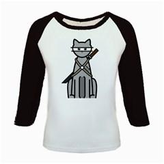 Ninja Cat Women s Long Cap Sleeve T-Shirt