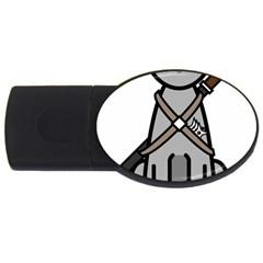 Ninja Cat 4GB USB Flash Drive (Oval)