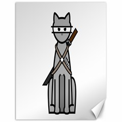 Ninja Cat Canvas 12  X 16  (unframed)