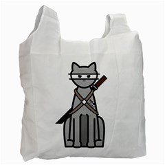 Ninja Cat Recycle Bag (two Sides)