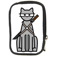Ninja Cat Compact Camera Leather Case