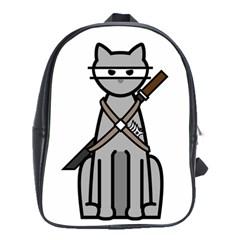 Ninja Cat School Bag (Large)