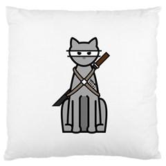 Ninja Cat Large Cushion Case (Two Sides)