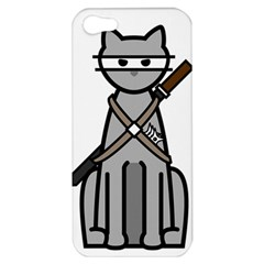 Ninja Cat Apple Iphone 5 Hardshell Case