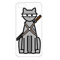 Ninja Cat Apple iPhone 5 Seamless Case (White)