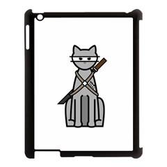 Ninja Cat Apple iPad 3/4 Case (Black)