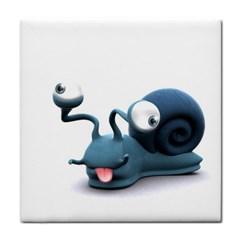 Funny Snail Ceramic Tile