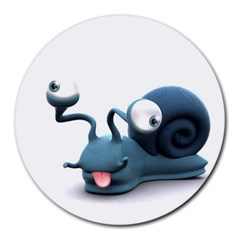 Funny Snail 8  Mouse Pad (Round)