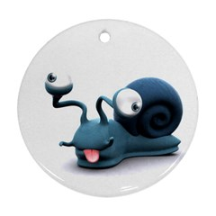 Funny Snail Round Ornament