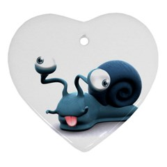 Funny Snail Heart Ornament