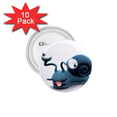 Funny Snail 1.75  Button (10 pack)