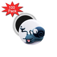 Funny Snail 1 75  Button Magnet (100 Pack)