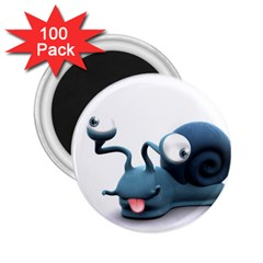 Funny Snail 2.25  Button Magnet (100 pack)