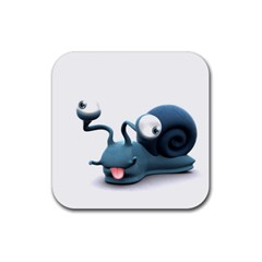 Funny Snail Drink Coaster (Square)