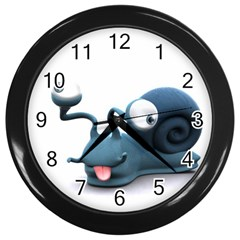 Funny Snail Wall Clock (Black)