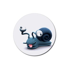 Funny Snail Drink Coaster (Round)