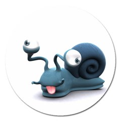 Funny Snail Magnet 5  (round)