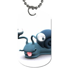 Funny Snail Dog Tag (Two Sided)