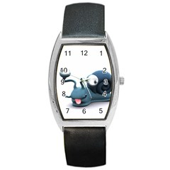 Funny Snail Tonneau Leather Watch