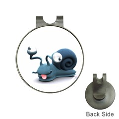Funny Snail Hat Clip with Golf Ball Marker