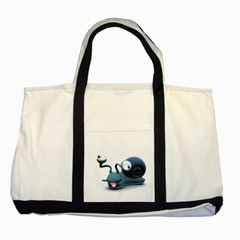 Funny Snail Two Toned Tote Bag