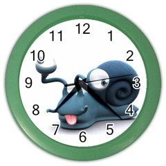 Funny Snail Wall Clock (Color)