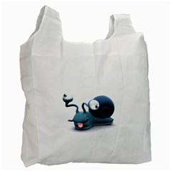 Funny Snail Recycle Bag (one Side)