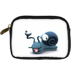 Funny Snail Digital Camera Leather Case