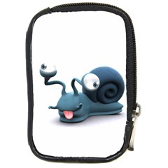 Funny Snail Compact Camera Leather Case