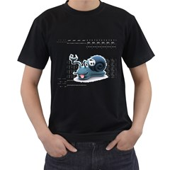 Funny Snail Mens' T-shirt (Black)