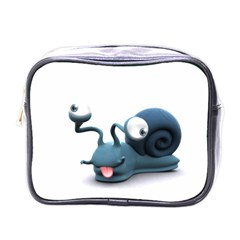 Funny Snail Mini Travel Toiletry Bag (One Side)