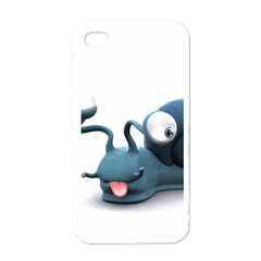 Funny Snail Apple Iphone 4 Case (white)