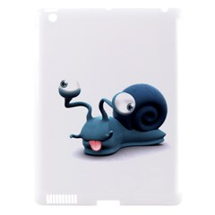 Funny Snail Apple Ipad 3/4 Hardshell Case (compatible With Smart Cover)