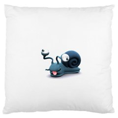 Funny Snail Large Cushion Case (Two Sides)