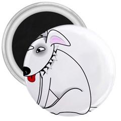 Pitbull 3  Button Magnet