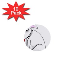 Pitbull 1  Mini Button (10 pack)