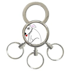 Pitbull 3-Ring Key Chain