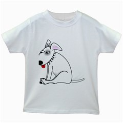 Pitbull Kids' T-shirt (White)