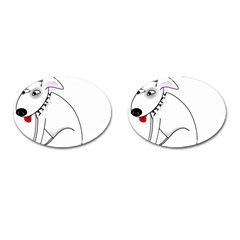Pitbull Cufflinks (oval)