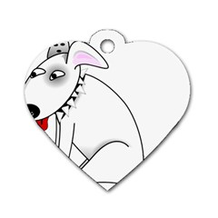 Pitbull Dog Tag Heart (two Sided)