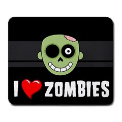 I Love Zombies Large Mouse Pad (Rectangle)