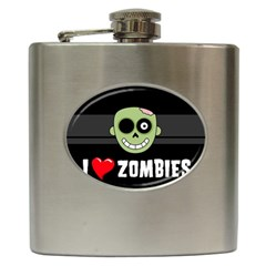 I Love Zombies Hip Flask